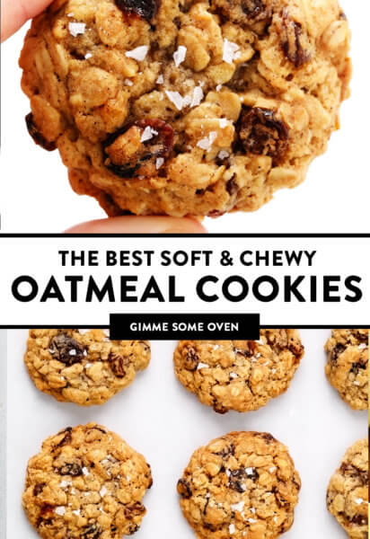 The Best Soft and Chewy Oatmeal Cookies