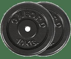 2 discos de 10 kilos