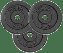 3 discos 5 kilogramos para barra