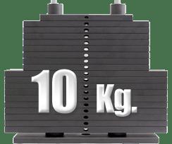 peso 10 kilogramos polea