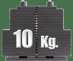 peso 10 kilogramos polea alta gimnasio