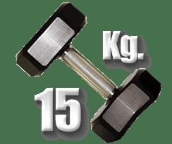 peso 15 Kg mancuerna