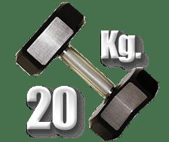 peso 20 kilogramos mancuerna