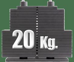 peso 20 kilogramos polea alta gimnasio