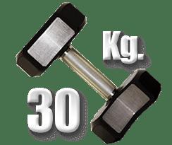 peso 30 kilogramos mancuerna