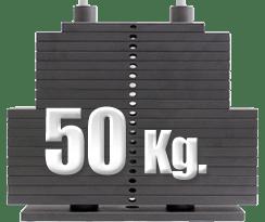 peso 50 kilogramos polea alta gimnasio