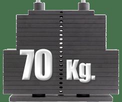 peso 70 kilogramos polea alta gimnasio
