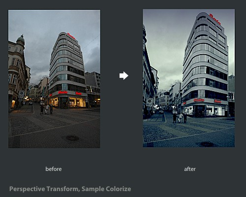 Perspective Transform, Sample Colorize