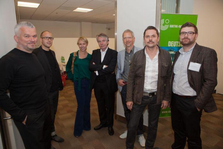 Panelists Daniel Hundt, Moni Wolf, Prof. Klaus Klemp, Thomas Overthun and Markus Diebel | © 2011 Philipp Weitz Photography