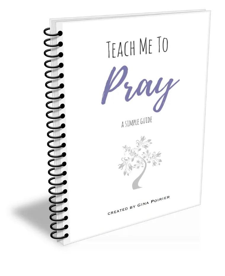Printable Prayer Journal Teach Me To Pray Gina M Poirier