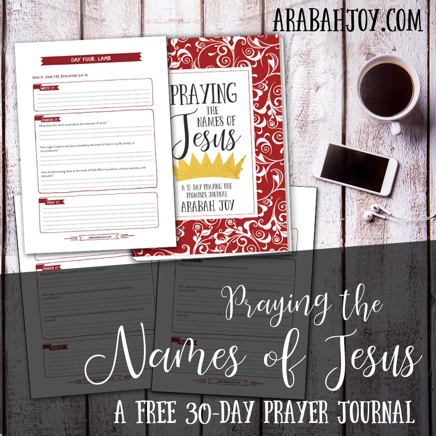 Praying the Names of Jesus 30 Day Advent Journal Arabah Joy