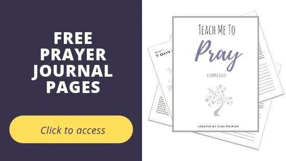 Free Prayer journal pages