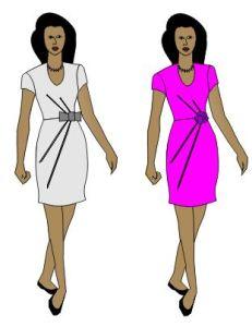 patterns -draped dress