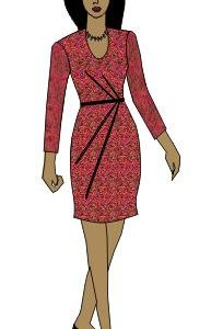 Draped Dress Pattern Macro
