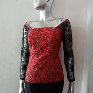 Bustier with cap or full sleeves