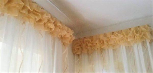 Le mantovane moderne completano l'estetica di un tendaggio, rendono più bello e presentabile uno. Mantovana Sbuffettata In Organza Gina Tendaggi