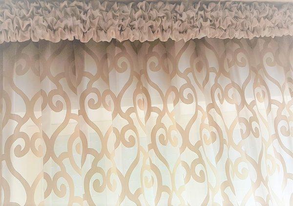 Mantovane, tende classiche e drappeggi, decorazioni per finestre,. Mantovana Classica Sbuffettata In Tessuto Tafta Gina Tendaggi