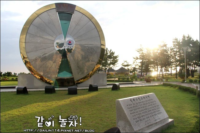 韓國江陵》正東津沿海旁號稱世界最大沙漏公園모래시계공원/Hourglass Park
