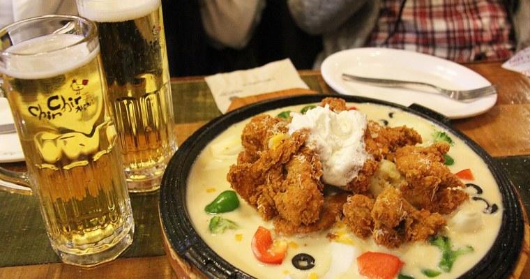 首爾食記》明洞美食 來韓國就是要吃韓式炸雞 치르치르 치킨 奶油炸雞好好吃!