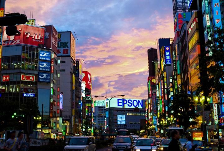 Sunset over Shinjuku © Joi Ito