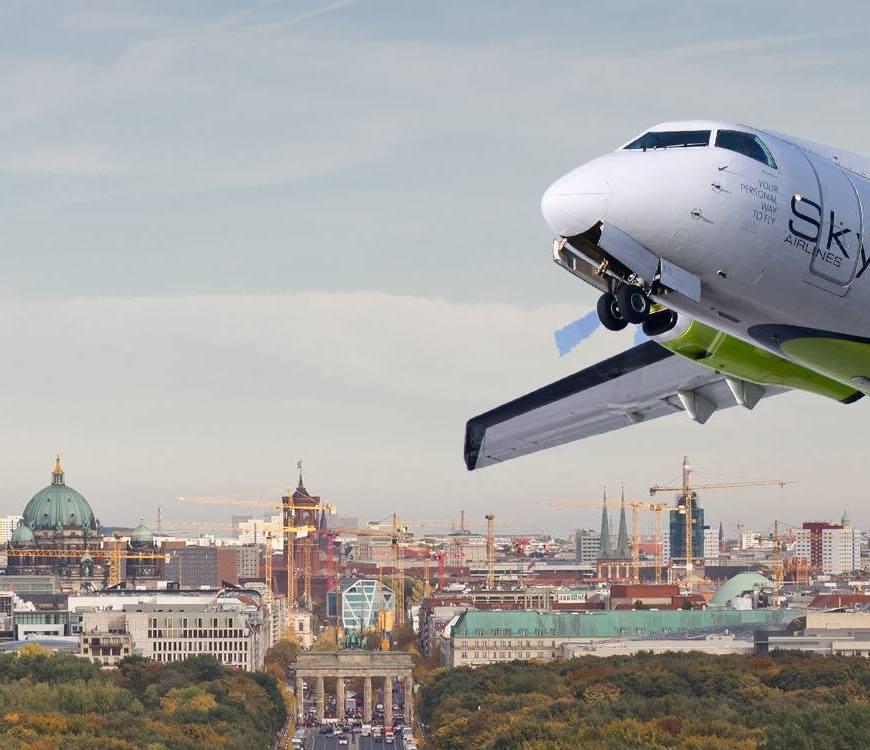 Der neue Graz-Berlin Flug ab 25. März 2018 www.gindeslebens.com ©Skywork