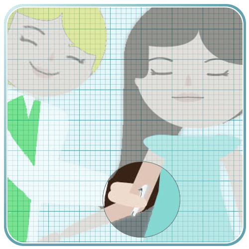 implante brazo varilla colocación