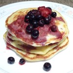 Pancakes with Berry Syrup