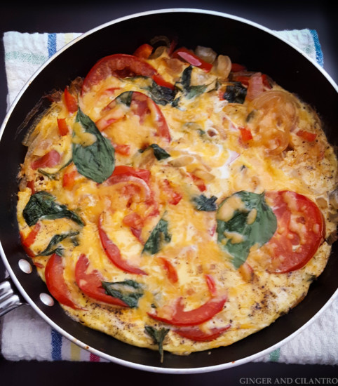 Sunday Morning Tomato Basil Frittata