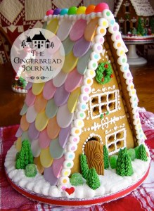 gingerbread house Christmas necco wafers roof