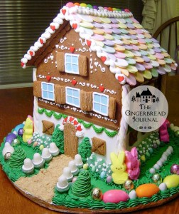 gingerbread house for Easter necco wafers roof
