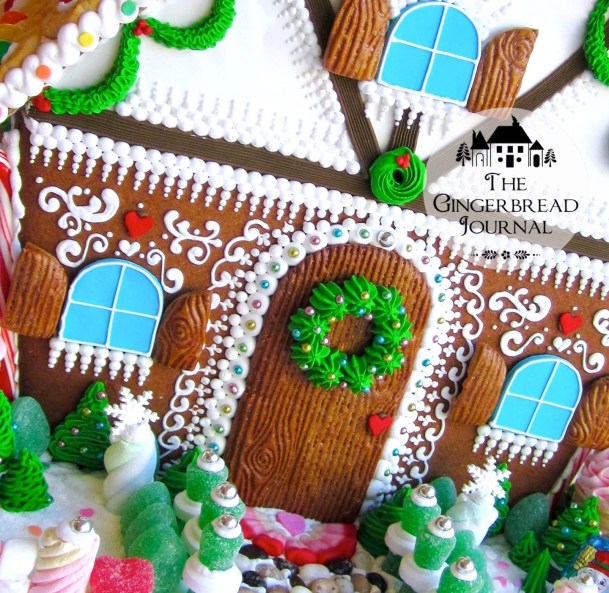 gingerbread house Christmas D-15wm