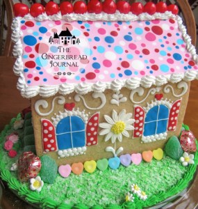 gingerbread house for Valentine's Day