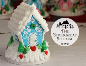 Christmas Gingerbread House Blue