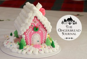 Christmas Gingerbread House Pink