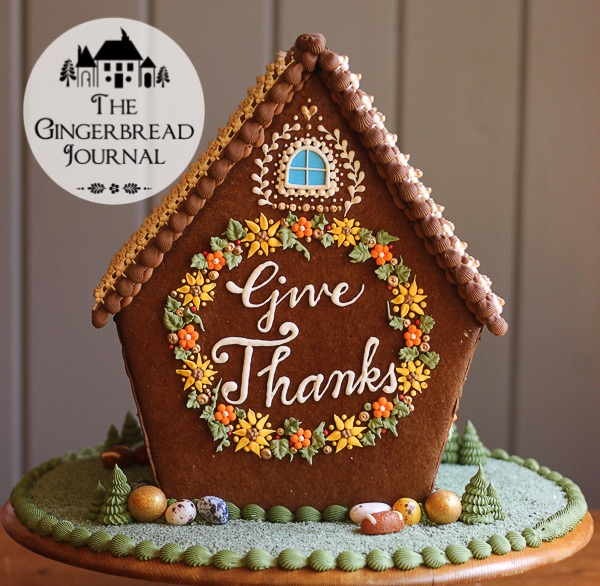 Gingerbread House Thanksgiving www.gingerbreadjournal.com