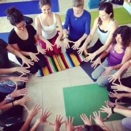 Ginger leading an integrative (yoga) interdisicplinary training for health care professionals