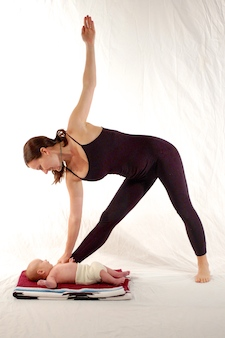 "Doing ""mommy and me"" yoga with my second son (c)2008"