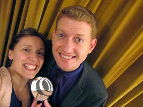Damian and Cait with The Wedding Industry Award Trophy