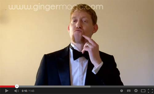 A magic trick with the Queen, for Movember - GingermagicTV