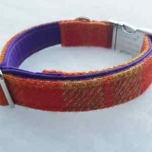 Orange Luxury Harris Tweed Collar