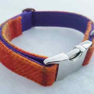 Orange Luxury Harris Tweed Collar