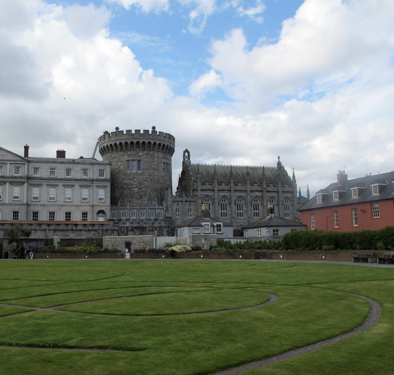 A photo of Dublin Castle from one of the gardens.