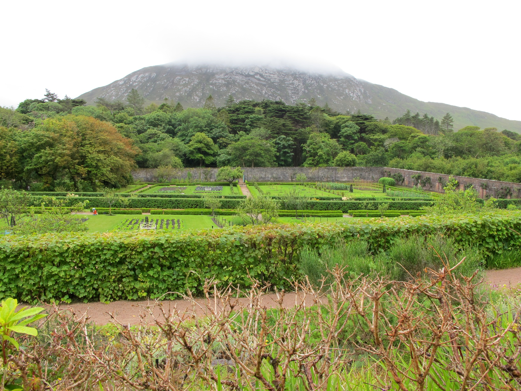 victorian gardens kylemore ireland