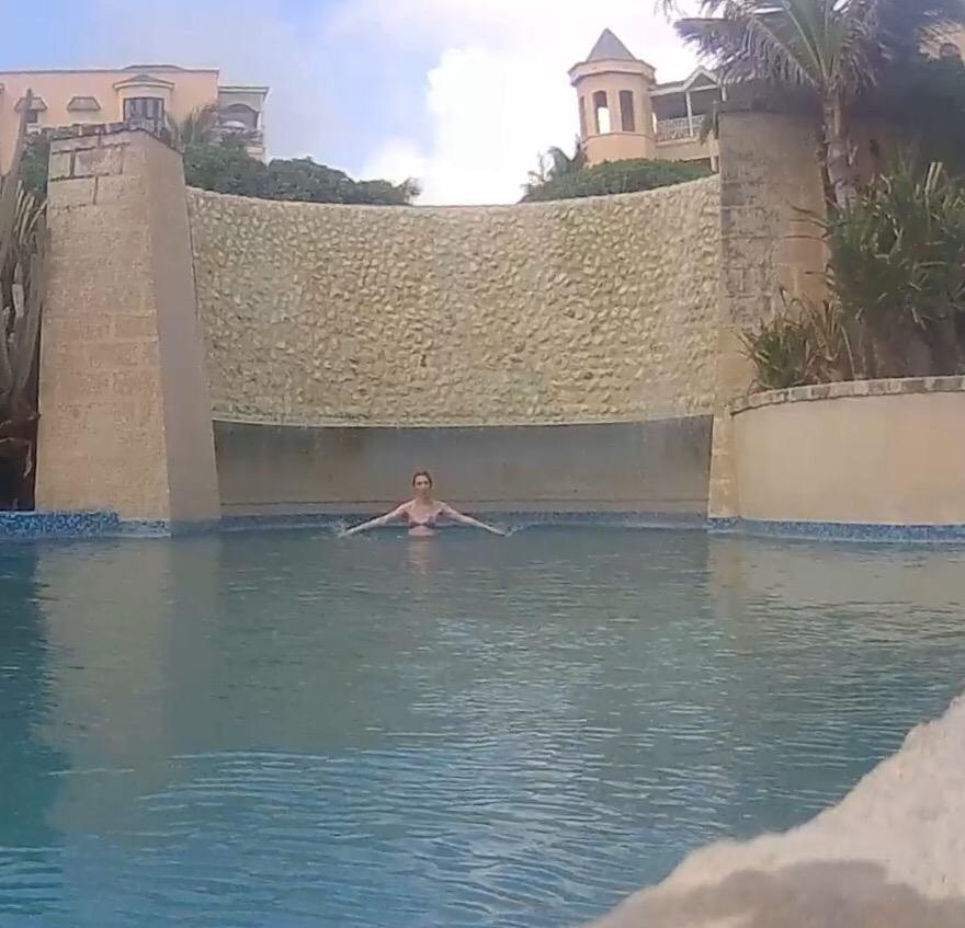 waterfall pool hotel