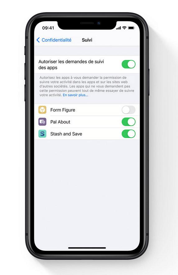iOS 14.5 d'Apple