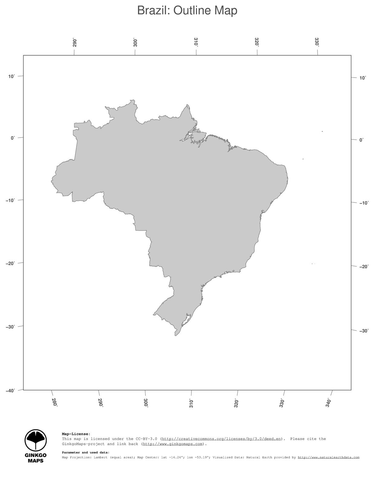Map Brazil Ginkgomaps Continent South America Region