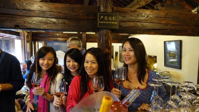 Cantonese beauties at the bar, Pear Orchard Temple, Shaxi Yunnan China