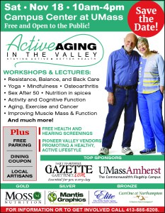 Free Event this Saturday 10 – 4: Active Aging in the Valley