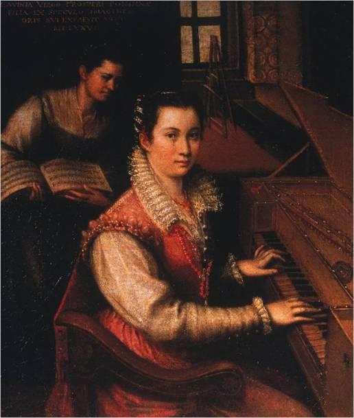 Self-portrait of Lavinia Fontana, who painted Antoinetta