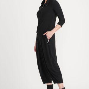 Black Jumpsuit Style #203681 by Joseph Ribkoff